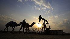 Нефтяная вышка. Архивное фото