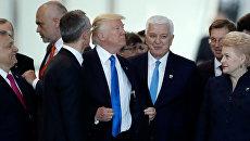 Президент США Дональд Трамп и премьер-министр Черногории Душко Маркович на саммите НАТО в Брюсселе