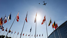 Флаги стран-участниц НАТО. Архивное фото