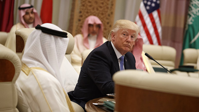 Дональд Трамп на саммите Совета сотрудничества арабских государств Персидского залива в Эр-Рияде. 21 мая 2017