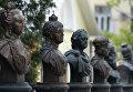 Монумент Анны Иоанновной на открытии Аллеи Правителей в Москве