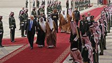 Президент США в международном аэропорту Эр-Рияда. Архивное фото