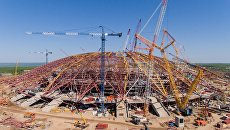 Строительство стадиона Самара Арена к чемпионату мира по футболу 2018 года