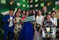Главный редактор информационного агентства и радио Sputnik Маргарита Симоньян с участниками шоу Ты супер!