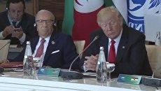 Президент США Дональд Трамп на встрече лидеров Большой семерки
