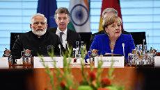Премьер-министр Индии Нарендра Моди провел переговоры с канцлером ФРГ Ангелой Меркель в Берлине. 30 мая 2017