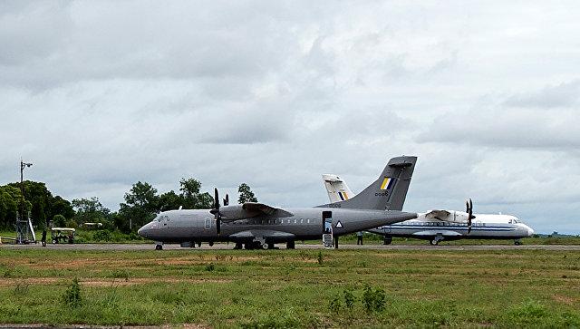 Самолет, участвующий в поисково-спасательной операции в Мьянме. 8 июня 2017