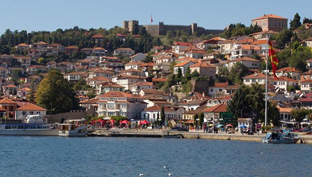 Город Охрид в Македонии. Архивное фото