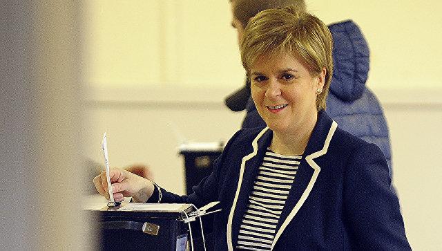 Первый министр Шотландии, лидер Шотландской национальной партии Никола Стерджен. Архивное фото