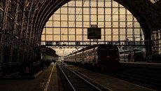 На платформе Киевского вокзала. Архивное фото