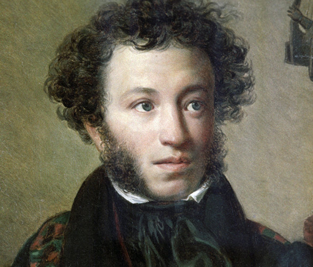 Репродукция портрета Александра Сергеевича Пушкина, написанного художником Орестом Кипренским