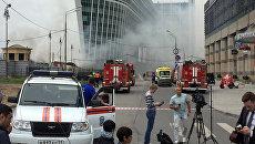 Пожар в районе Киевского вокзала. Архивное фото
