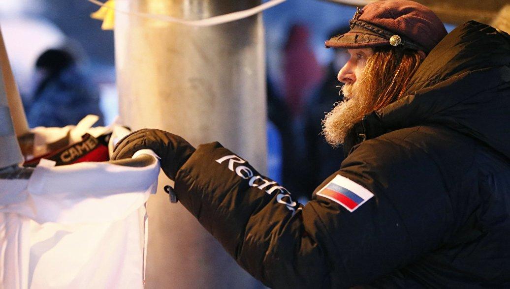 Федор Конюхов на тепловом шаре. Архивное фото
