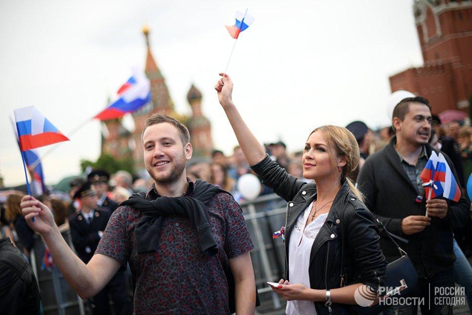 Праздничный концерт, посвященный Дню России, на Красной площади. 12 июня 2017