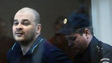 Максим Марцинкевич (Тесак), обвиняемый в нападении на людей, во время оглашения приговора в Бабушкинском суде Москвы. 20 июня 2017
