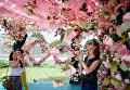 """На открытии V Московского международного фестиваля садов и цветов Moscow Flower Show в парке """"Музеон"""" в 2016г. Архивное фото"""