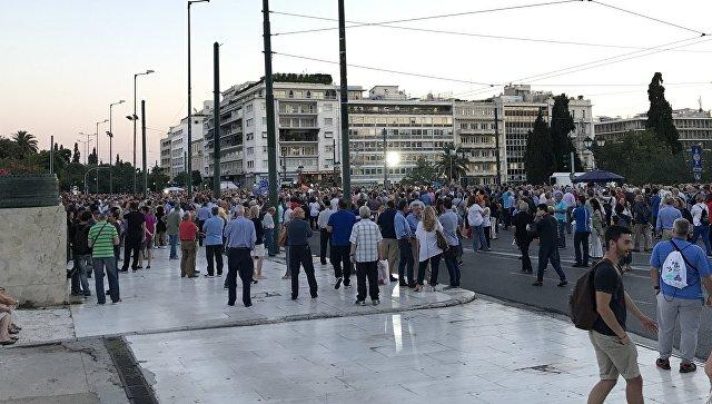 Митинг в Афинах. Архивное фото