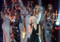 Певица Полина Гагарина на всероссийском конкурсе красоты Мисс Русское радио в Барвиха Luxury Village в Москве