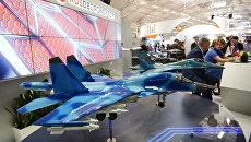 Стенд российской компании Рособоронэкспорт на Международном авиасалоне Ле Бурже-2017. Архивное фото