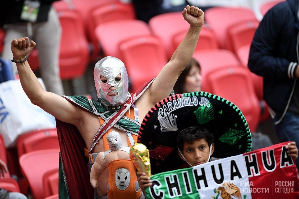Болельщики Мексики перед началом матча Кубка конфедераций-2017 по футболу между сборными Португалии и Мексики