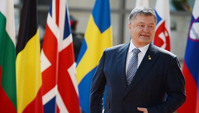 Президент Украины Петр Порошенко во время встречи с председателем Европейского совета Дональдом Туском в Брюсселе. 22 июня 2017. Архивное фото