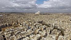 Вид на город Алеппо. Сирия. Архивное фото