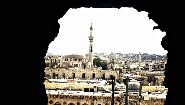 Историческая часть города Алеппо.  Архивное фото