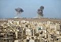 Вид на разрушенные кварталы Алеппо, несколько лет назад  - первый по величине город Сирии. 18.02.2016