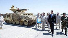 Президент Сирийской Арабской Республики Башар Асад посетил авиабазу ВКС РФ в Хмеймиме