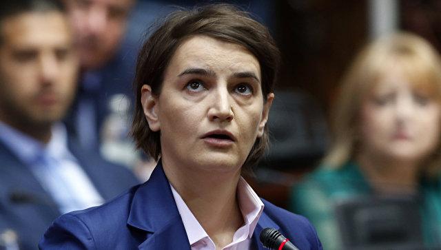 Премьер-министр Сербии Ана Брнабич. 28 июня 2017