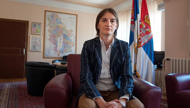Премьером Сербии впервый раз  стала женщина нестандартной  ориентации