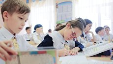 Ученики лицея на занятии по математике