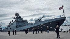Фрегат Адмирал Макаров проект 11356 на Международном Военно-Морском салоне в Санкт-Петербурге. Архивное фото