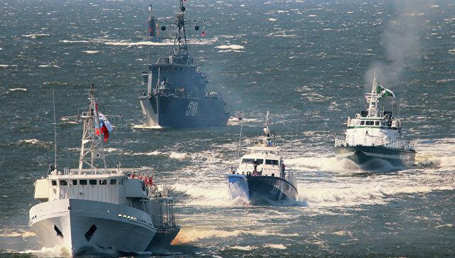 Генеральная репетиция парада ко Дню ВМФ в Балтийске. Архивное фото