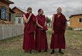 Студенты буддийского университета Даши Чойнхорлин имени Дамба Даржа Заяева в Иволгинском дацане в Бурятии