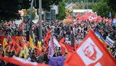 Акция протеста в связи с проведением саммита Группы двадцати в Гамбурге. Архивное фото