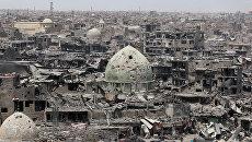 Панорама Старого города в Мосуле, Ирак. 9 июля 2017