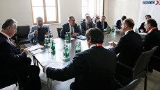 Министры иностранных дел России и Италии Сергей Лавров и Анджелино Альфано на министерской встрече. Архивное фото