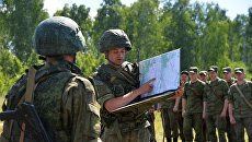 Военнослужащие во время тактико-специальных учений. Архивное фото