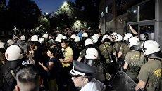Акция протеста в Салониках. Архивное фото
