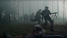 Кадр из фильма Лесные братья. Сражение за Балтию, снятый документалистами НАТО