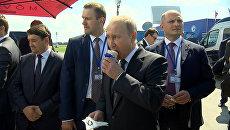 Стаканчик мороженого от президента - Путин угостил министров на авиасалоне МАКС