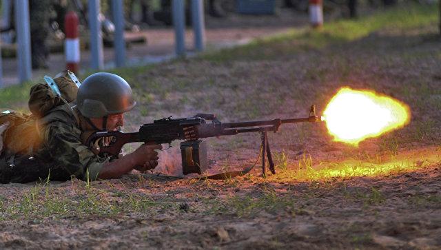 Стрельбы во время антитеррористических учений в рамках сбора руководящего состава Сухопутных войск, которые прошли на базе Гороховецкого центра в поселке Мулино. Архивное фото