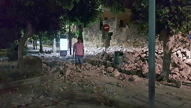 Мощное землетрясение случилось упобережья Турции