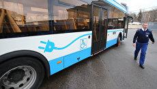 Собянин: через три года Москва полностью перейдет на электробусы. Архивное фото