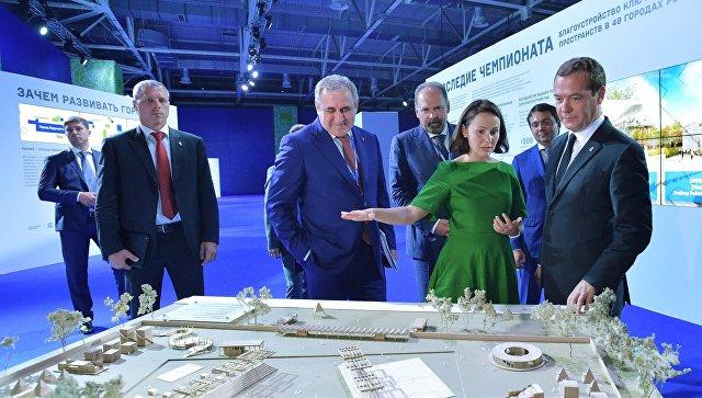 Д. Медведев сравнил стандарты возведения вКраснодаре суровнем 70-х годов
