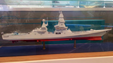 Макет эсминца Лидер на выставке. Архивное фото