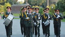 Военный оркестр Узбекистана. Архивное фото
