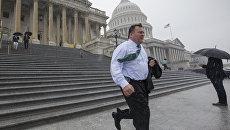 Возле здания Капитолия в Вашингтоне