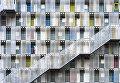 Работа фотографа Tetsuya Hashimoto Colorful apartment, получившая поощрительный приз в категории Города в фотоконкурсе 2017 National Geographic Travel Photographer of the Year